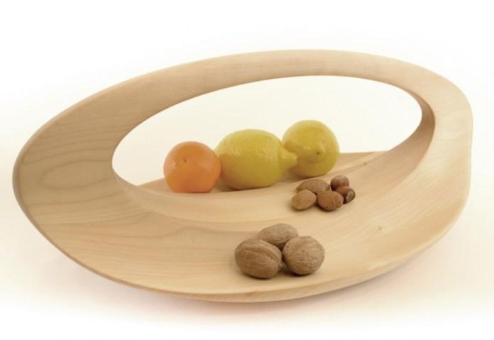 portafrutta design Loop slow wood