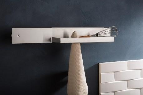 Barra porta tutto in acciao inox per il bagno
