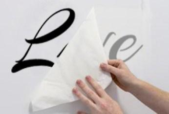 come applicare gli adesivi murali fase 6