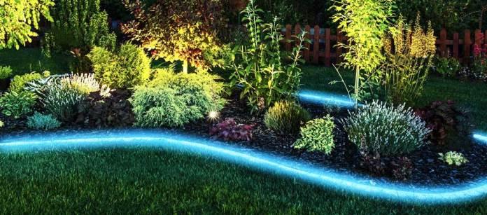 illuminazione giardino strip led rgb