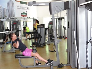Gyms get pretty crowed during Summer (credits: Michelle Farias/G1)