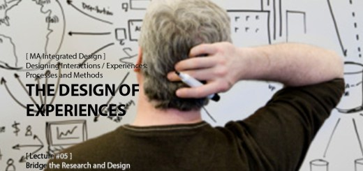 Designing Interactions / Experiences: The Design of Experiences