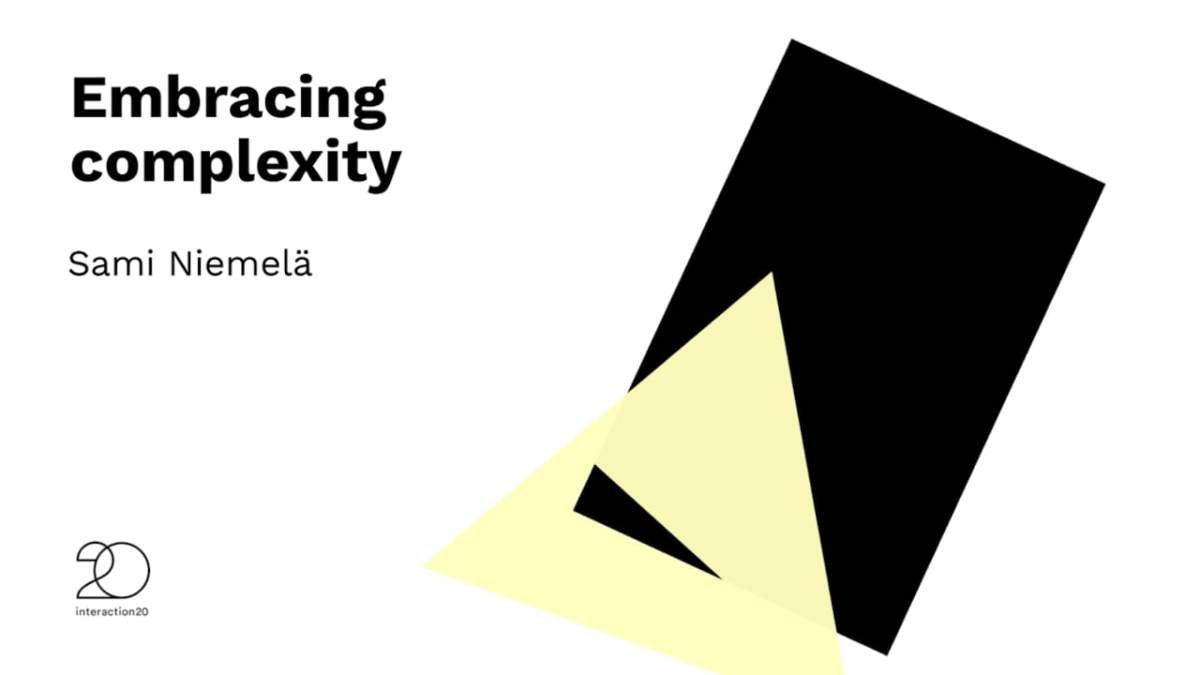 """Embracing complexity"" with Sami Niemelä"
