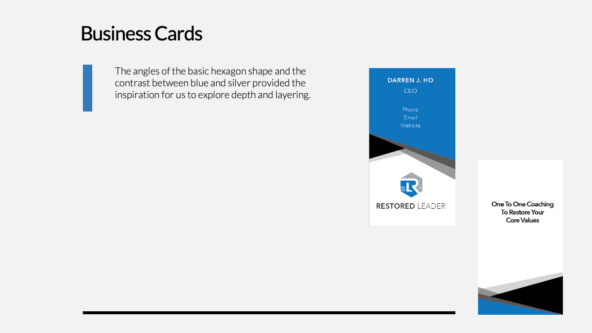 Assets: BUSINESS CARDS
