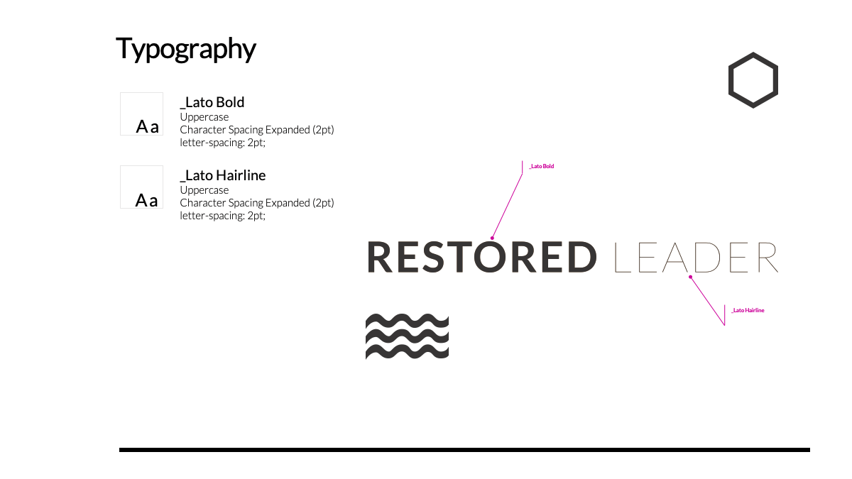 The Restored Leader: TYPOGRAPHY