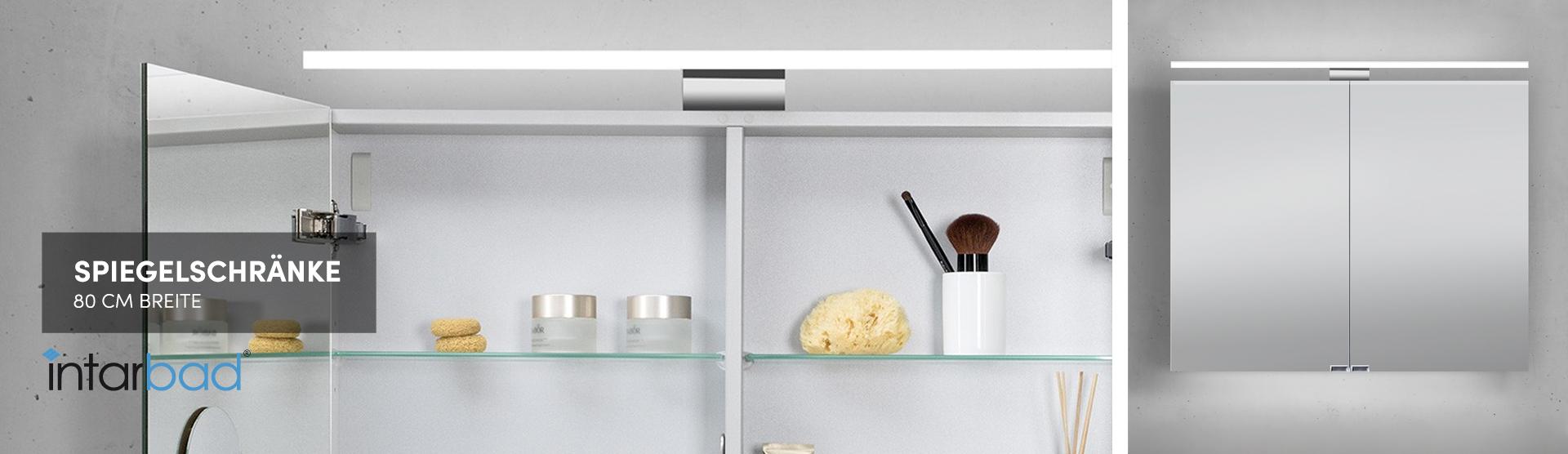Spiegelschrank 80 Cm Gunstig Kaufen Designbaeder Com