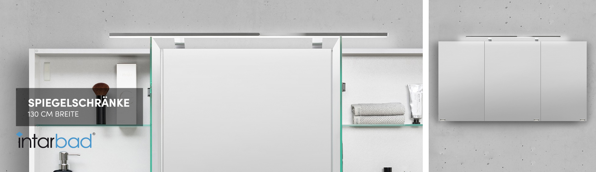 Spiegelschrank 130 Cm Beleuchtet Online Kaufen Designbaeder Com