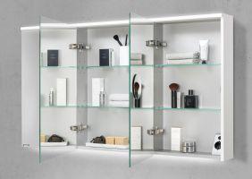 Spiegelschrank 130 cm integrierte LED Beleuchtung doppelt ...