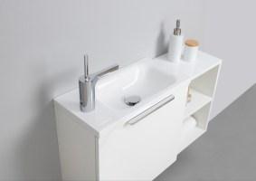 Gäste WC Badmöbel Set, Waschtisch mit Unterschrank, Made ...