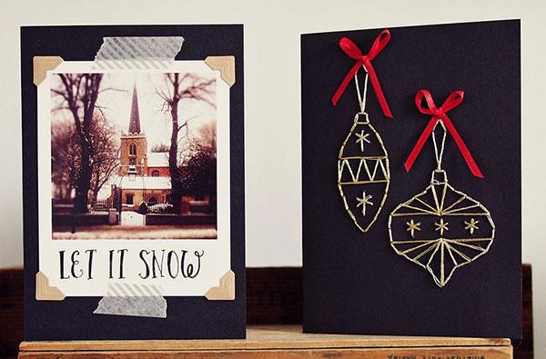 50 Beautiful Diy Amp Homemade Christmas Card Ideas For 2013