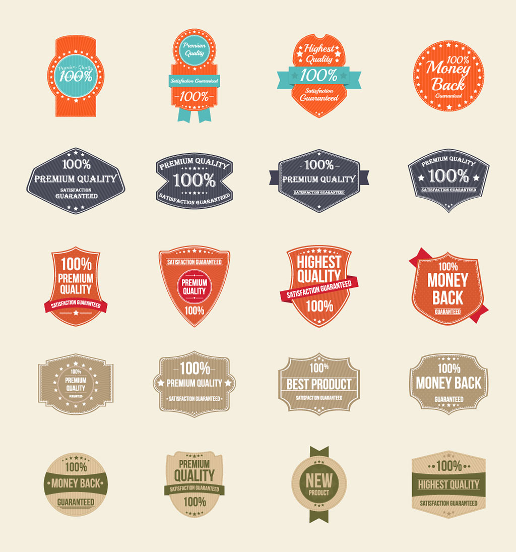100 free vector vintage badges stickers amp stamps in ai eps format
