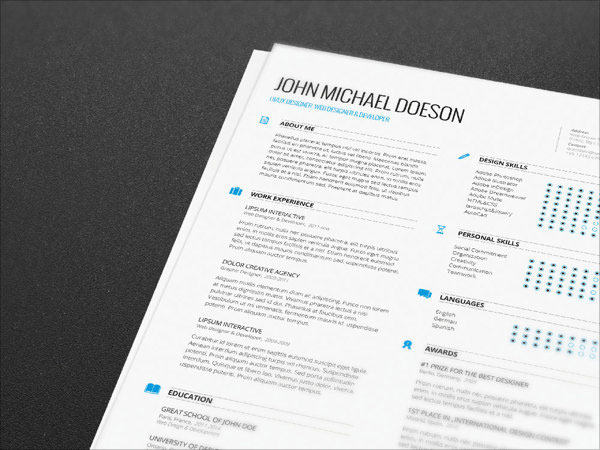 10 best free resume cv templates in ai indesign amp psd formats