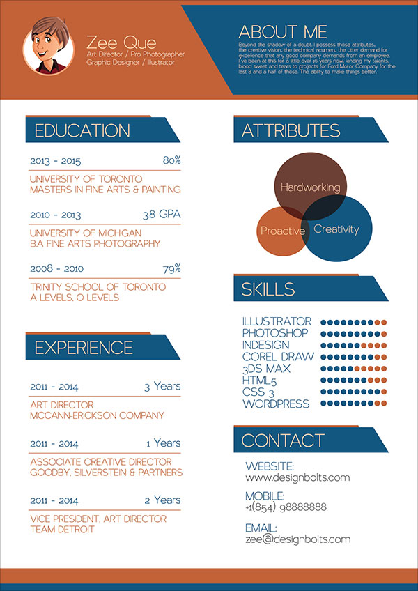 free resume cv template graphic designers vector illustrator ai