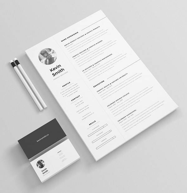 50  Beautiful Free Resume  CV  Templates in Ai  Indesign   PSD Formats FREE Clean   Minimal Resume Template