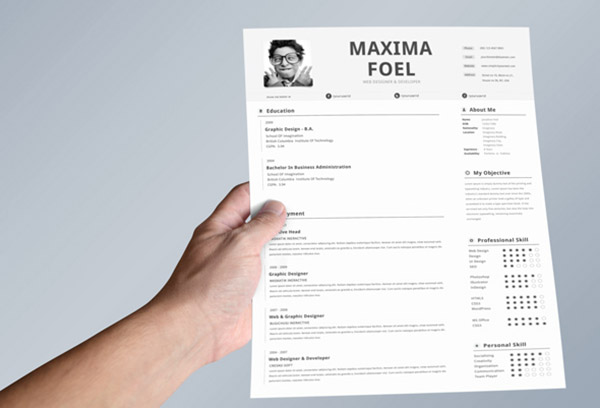 50 beautiful free resume cv templates in ai indesign amp psd formats