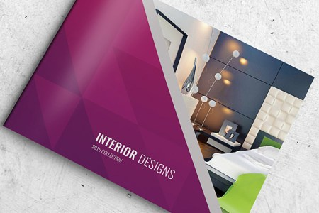 30  Really Beautiful Brochure Designs   Templates For Inspiration Interior brochure design PSD template