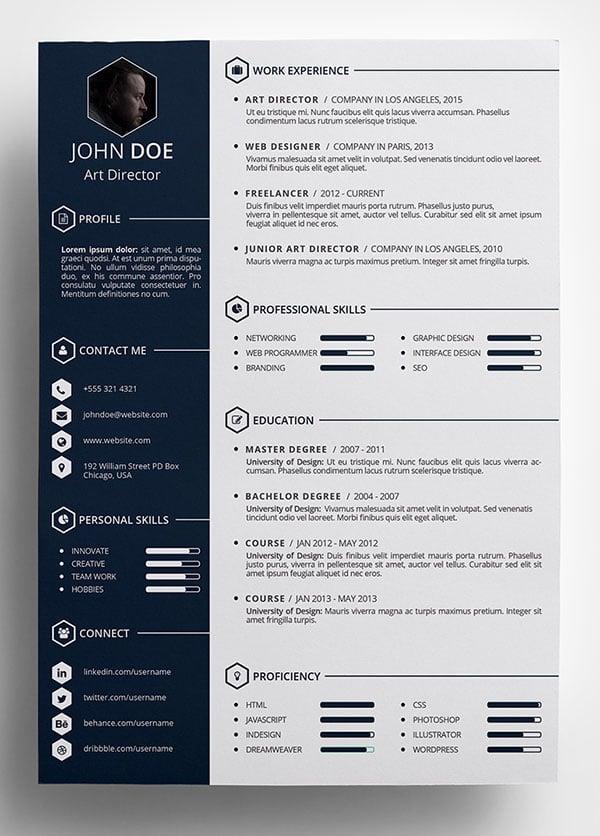 resume cv psd template free psd files 49 free professional cv