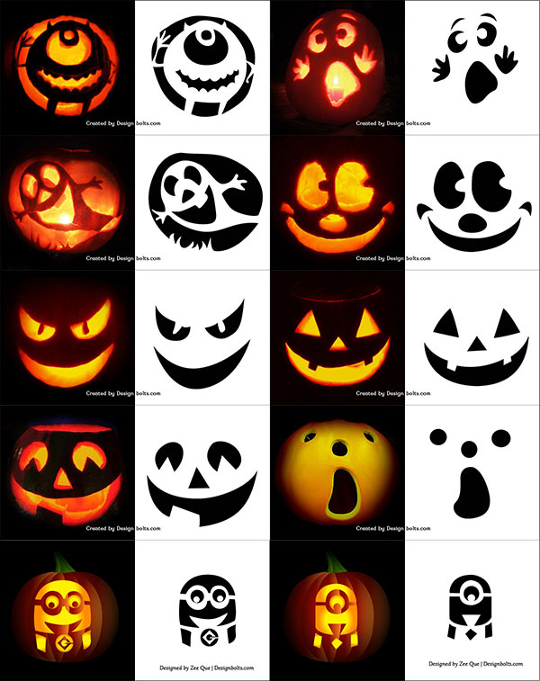 photograph relating to Pumpkin Carving Stencils Free Printable named Halloween Pumpkin Guidelines Templates
