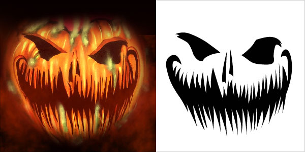 10 Free Scary Halloween Pumpkin Carving Stencils Patterns