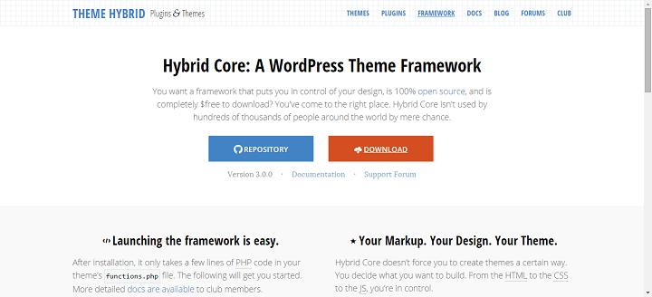hybridcore 8 Best WordPress Starter Themes And Frameworks For New WP Developers