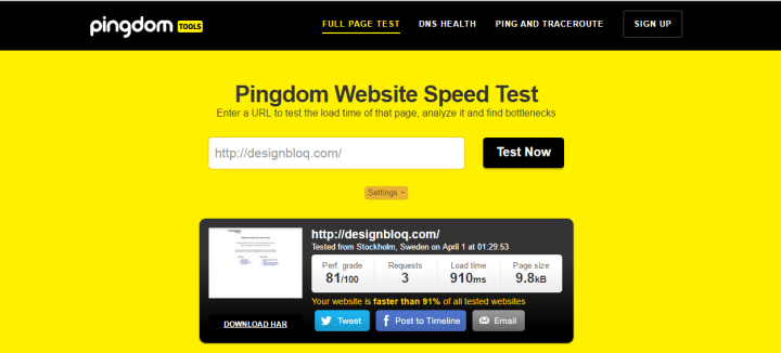 pingdom InMotion Hosting Review: A First Impression