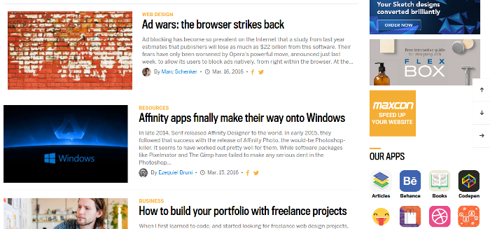 wdd-home2 Analyzing Web Designer Depot's New Design