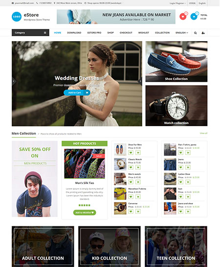 estore-wordpress-theme 21+ Best Free Responsive WordPress Themes for 2017