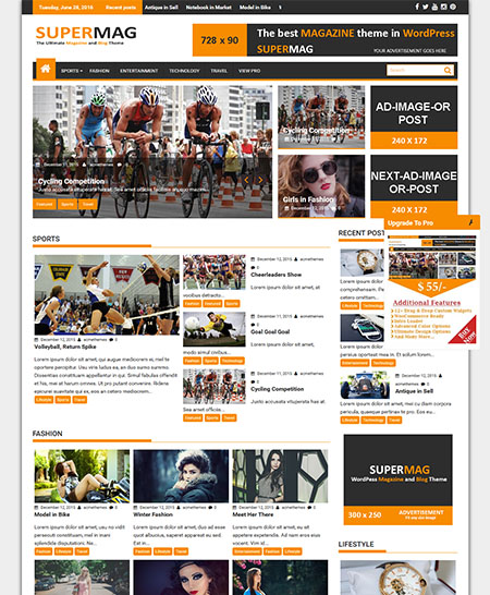 supermag-wordpress-theme 21+ Best Free Responsive WordPress Themes for 2017