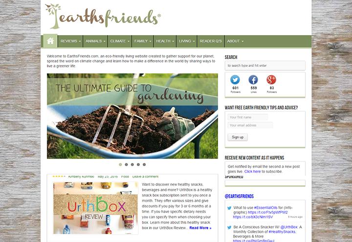 Earths-Friends 20 Impressive Websites Built With Sahifa WordPress Theme