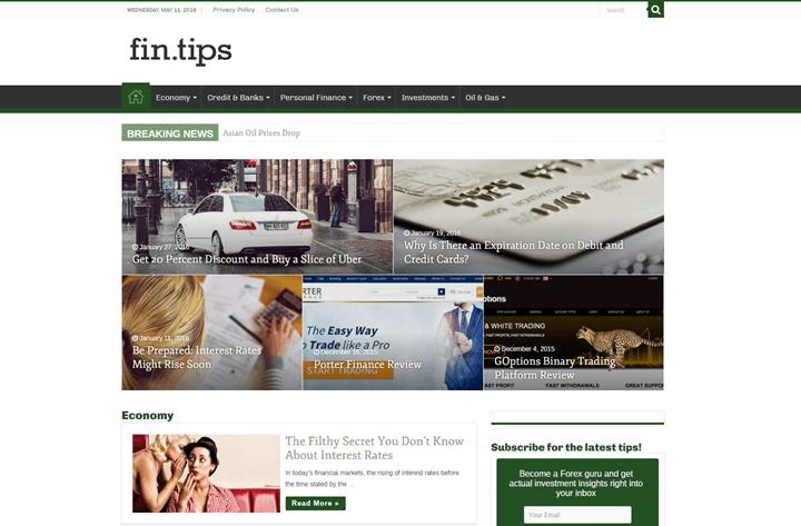 Fin.Tips_ 20 Impressive Websites Built With Sahifa WordPress Theme