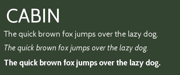 cabin Best Fonts for Websites: 25 Free Fonts for Websites