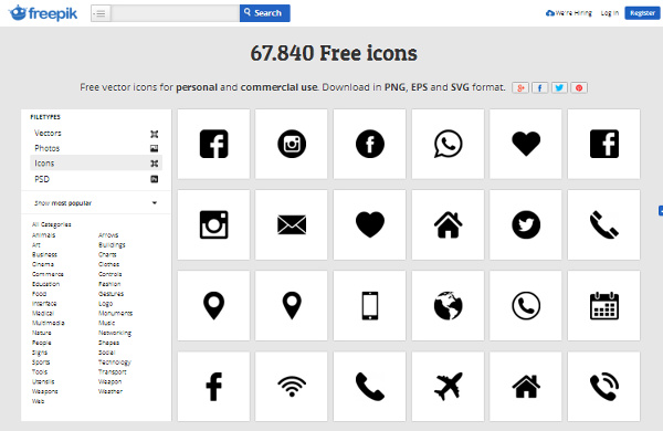freepik-icon-files 17 Best Places to Find Free & Premium Icon Files