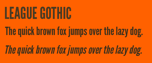 league-gothic Best Fonts for Websites: 25 Free Fonts for Websites