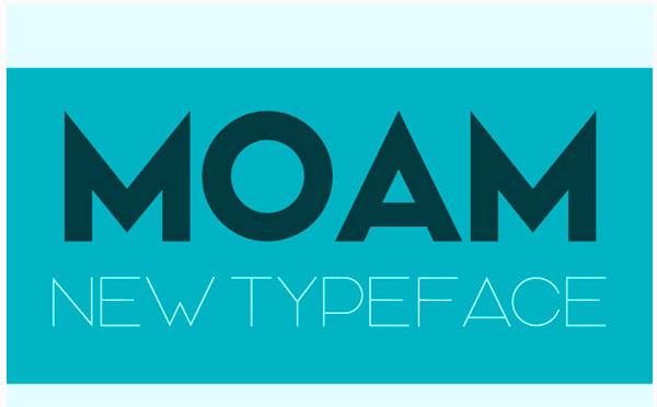 moam-typeface 22 Beautiful Premium Fonts for Logo Designs