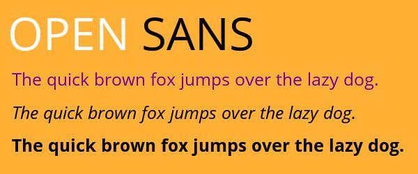 open-sans Best Fonts for Websites: 25 Free Fonts for Websites