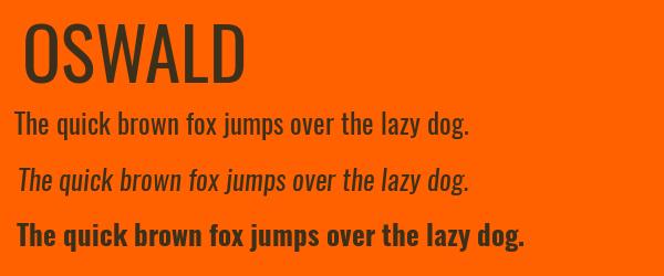 oswald Best Fonts for Websites: 25 Free Fonts for Websites