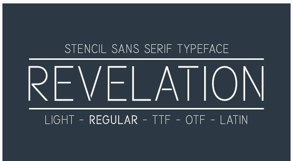 revelation 22 Beautiful Premium Fonts for Logo Designs