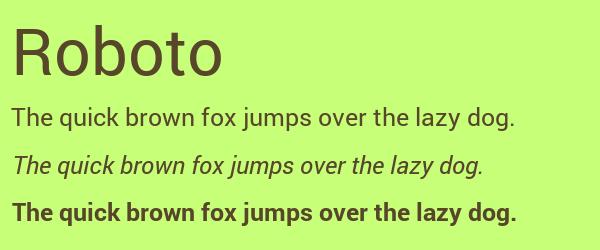 roboto Best Fonts for Websites: 25 Free Fonts for Websites