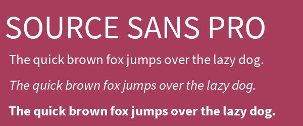 source-sans-pro Best Fonts for Websites: 25 Free Fonts for Websites