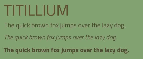 titillium Best Fonts for Websites: 25 Free Fonts for Websites
