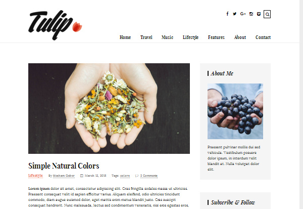 tulip 15 of the Very Best WordPress Themes for Writers