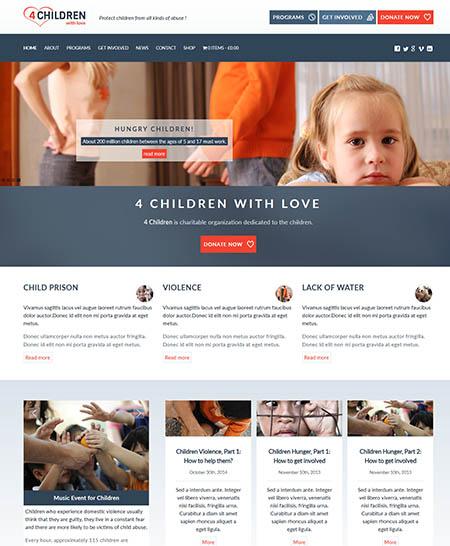 4-children-theme 12 Best Non-Profit & Charity WordPress Themes