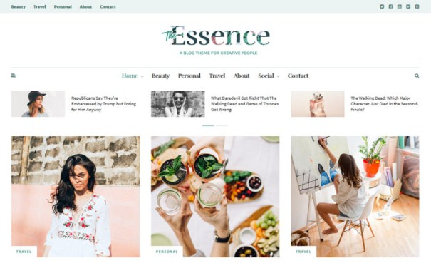 essence-theme 15 of the Very Best WordPress Themes for Writers