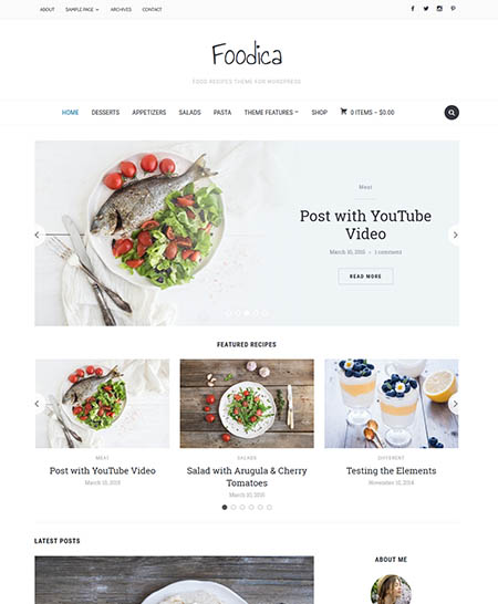foodica-wordpress-theme 13 Best Food Themes for Sharing Recipes