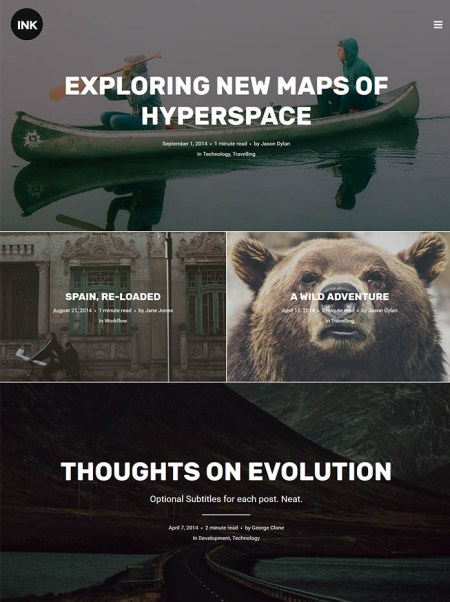 ink 20+ Best Personal WordPress Blog Themes For Corporate, Fashion, Travel, And Personal Blogs
