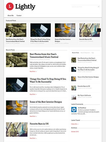 lightly 30 Newsworthy Magazine WordPress Themes for Blogs & Magazines