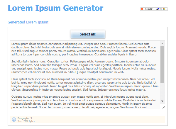 lorem-ipsum-generator 20 Plain & Hysterical Lorem Ipsum Generators
