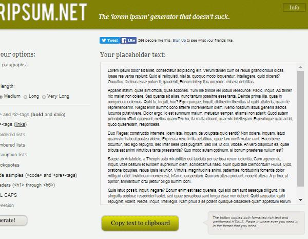 loripsumnet 20 Plain & Hysterical Lorem Ipsum Generators