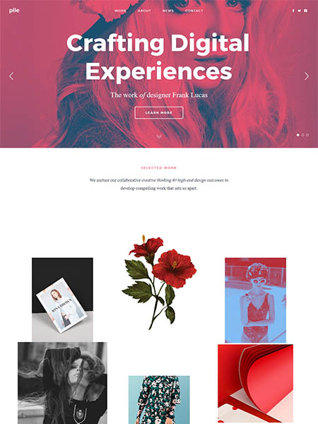 pile-theme 11+ Best WordPress Portfolio Themes to Showcase Your Work