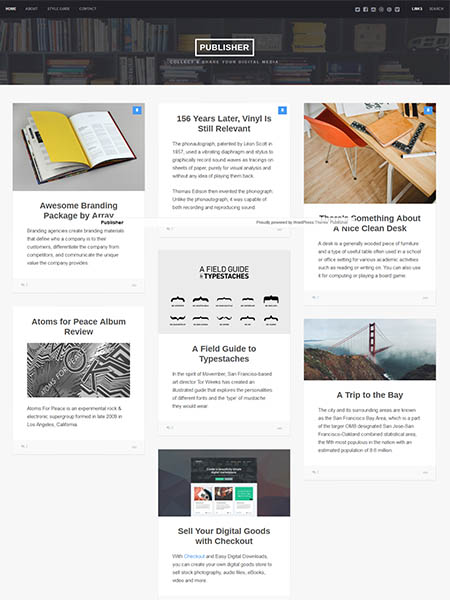 publisher-theme 20+ Best Personal WordPress Blog Themes For Corporate, Fashion, Travel, And Personal Blogs